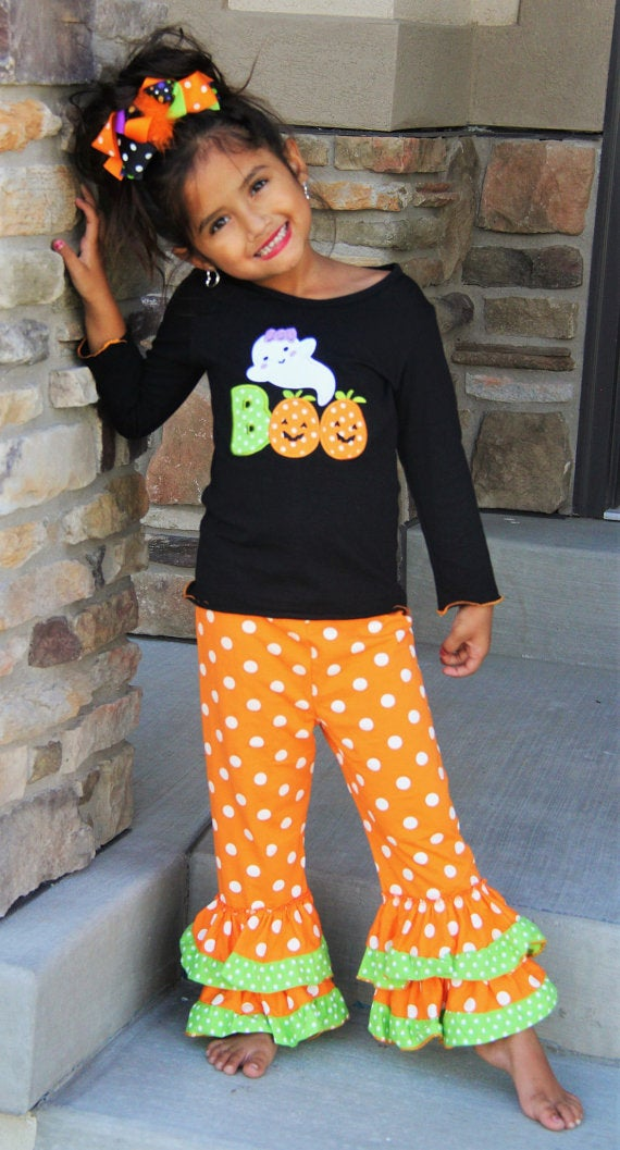 Thanksgiving 2 Piece Ruffle Boutique Pants Outfit Halloween So Sydney Girls Fall