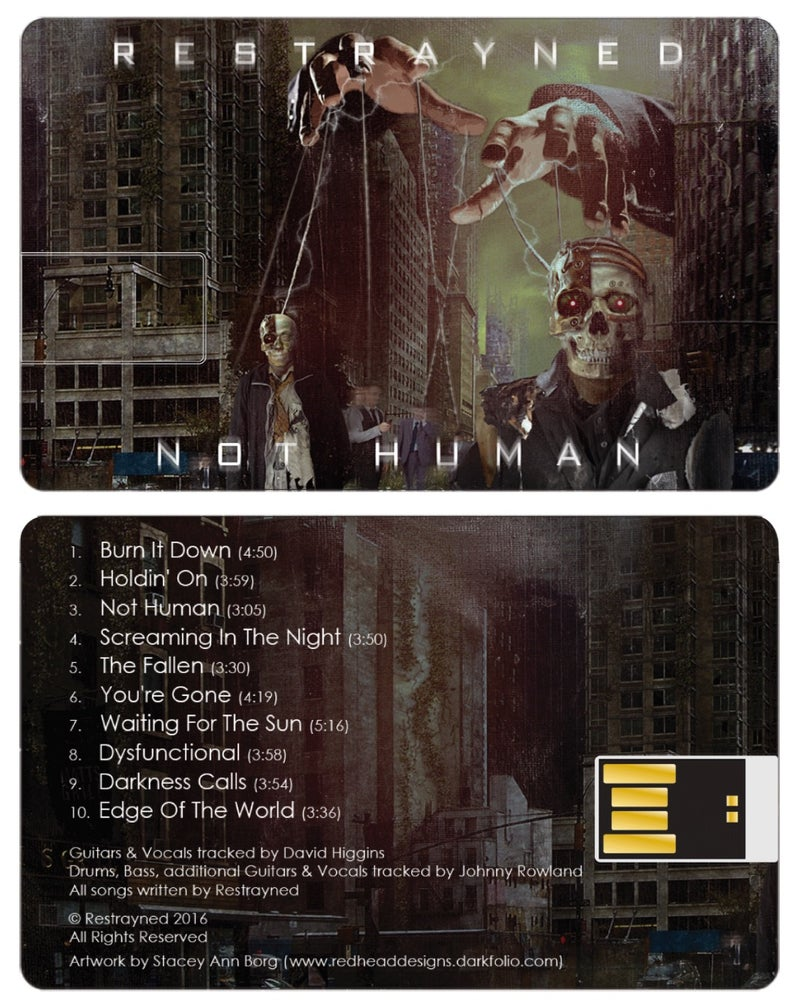 "Image of Restrayned ""Not Human"" USB Flash Drive"