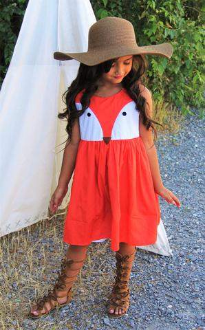 Image of Fox Face Boutique Dress, Baby Girl, Toddler, Back to School, Photos, Party