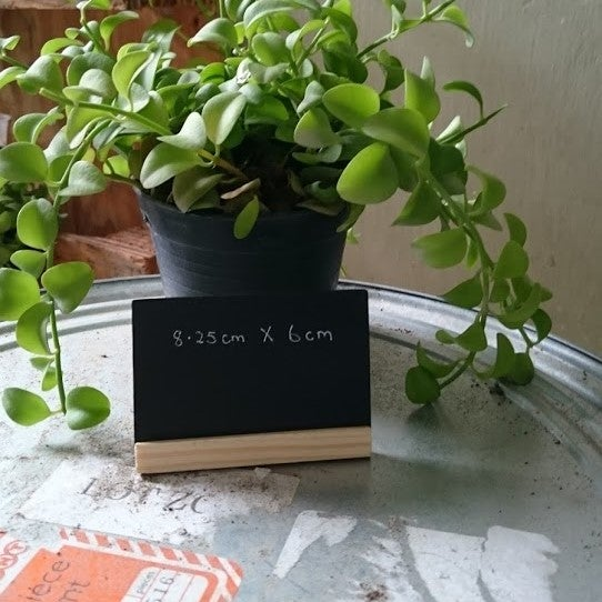 Image of Small Table Top Chalkboard with Pinewood Base Border