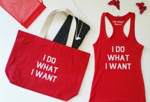 Image of I DO WHAT I WANT Tote & Tank Combo