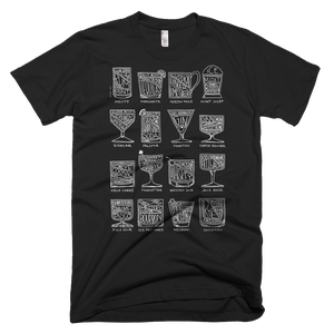 Cocktail Diagram T-shirt by Alyson Thomas of Drywell Art. Available at shop.drywellart.com