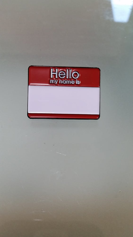"Image of ""HELLO MY NAME IS"" 1.25"" LAPEL"