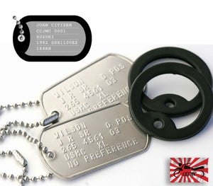 Image of CCJMC Personalised Embossed Steel Tags