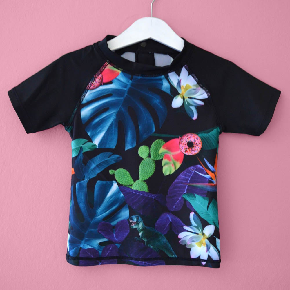 Image of Tropical Terror Kids Rashie - Short Sleeve