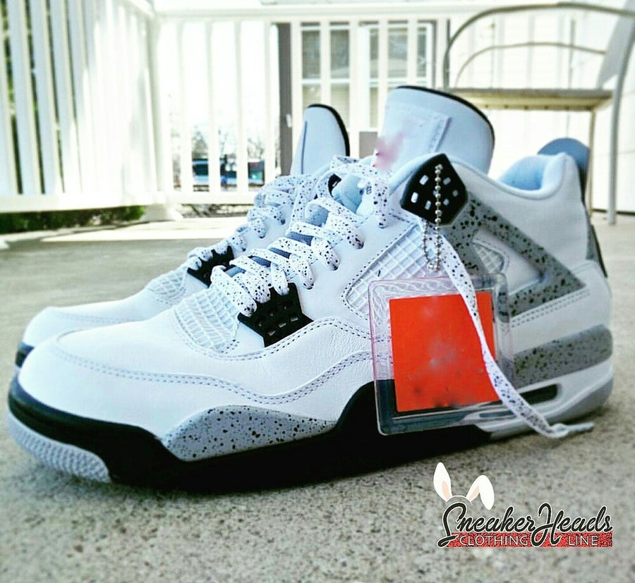 "Image of Exclusive ""White Cement"" LE Custom Laces"