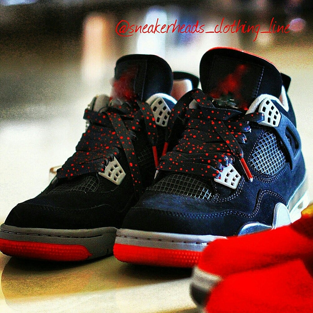 """Image of Exclusive """"Blood Splatter"""" LE Custom Laces"""
