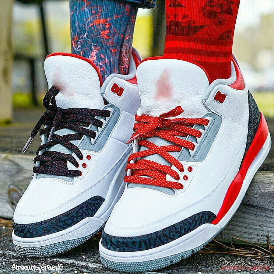 """Image of Exclusive """"3M (Red)"""" LE Custom Laces"""