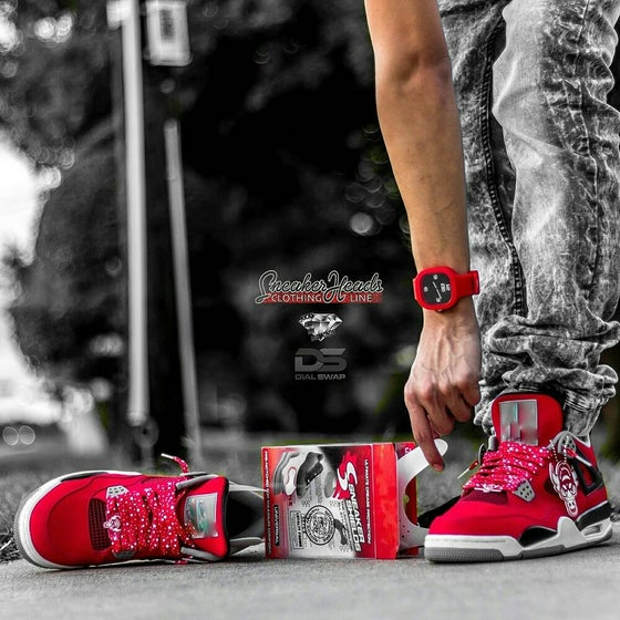 "Image of  Exclusive ""Fire Red"" LE Custom Laces"