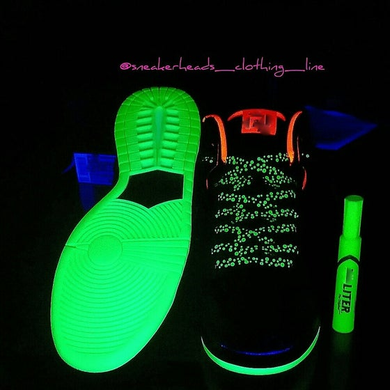 "Image of Exclusive ""GLOW IN THE DARK"" LE Custom Shoelaces"