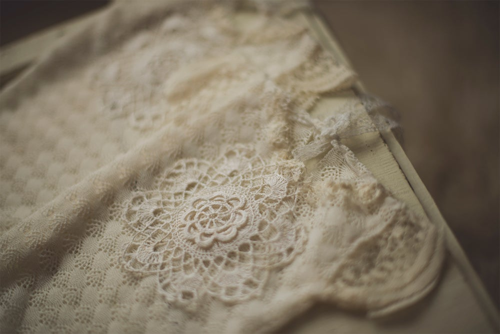 Image of Newborn Lace Embellished Romper