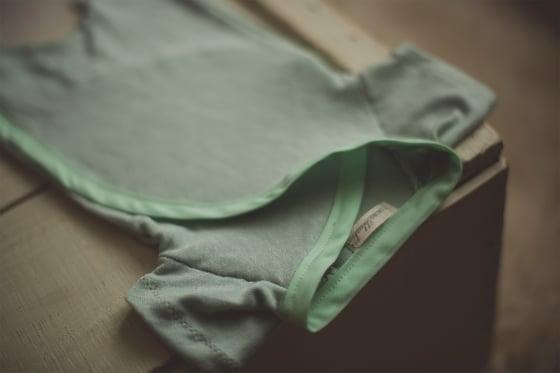 Image of Mint Snap & Tie Sleeper