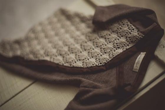 Image of Brown Knit Sleeper