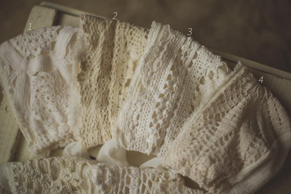 Image of Cotton Gauze & Aged Lace Bonnets