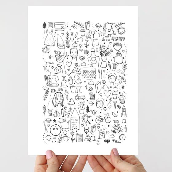 Image of Bits & Pieces Bespoke Illustration