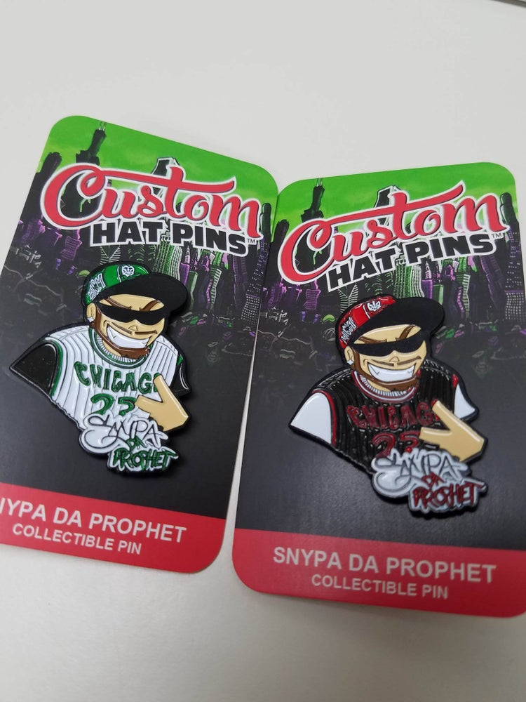 Image of SNYPA collectible hat pin