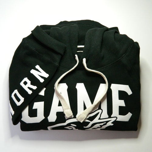 Image of GAME-WORN Pullover Hoodie - Charred Black/Old White