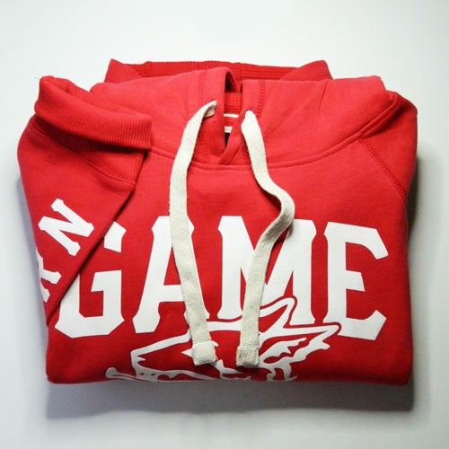 Image of GAME-WORN Pullover Hoodie - Faded Red/ Old White