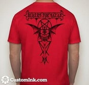 Image of Bikers For Satan T-shirt Black Logo