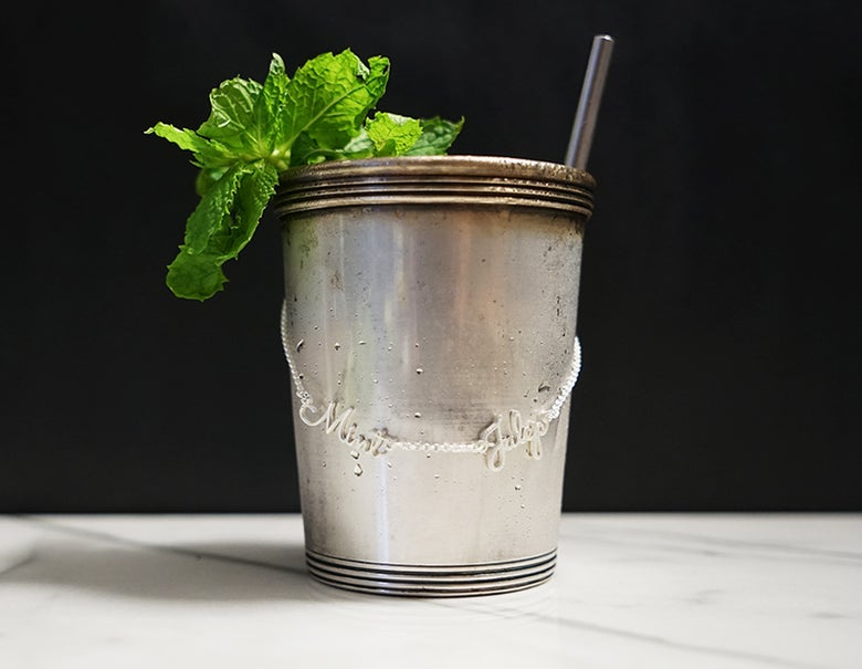 Image of Mint Julep Cocktail Necklace