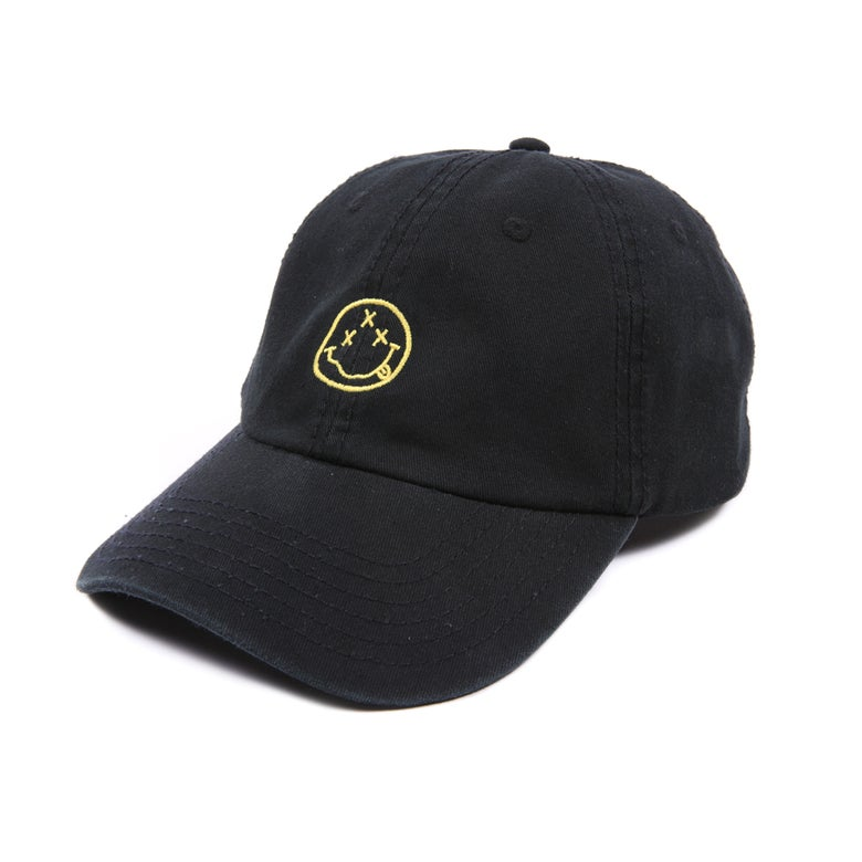 Image of Smiley Low Profile Sports Cap - Black