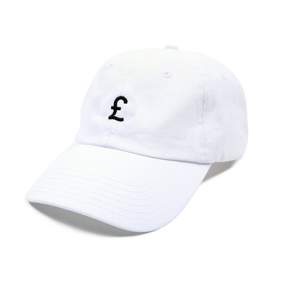 Image of Pound Low Profile Sports Cap - White