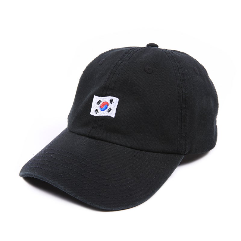 Image of Korea Low Profile Sports Cap - Black