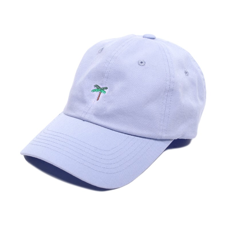 Image of Palm Tree Low Profile Sports Cap - Lavender