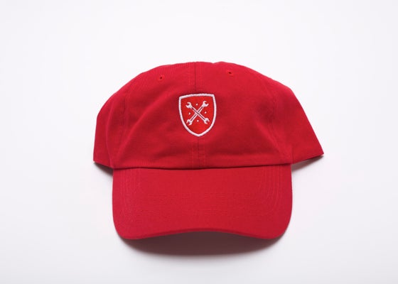 "Image of Red Logo ""Dad"" Hat"