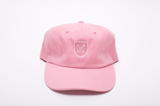 "Image of Pink Logo ""Dad"" Hat"