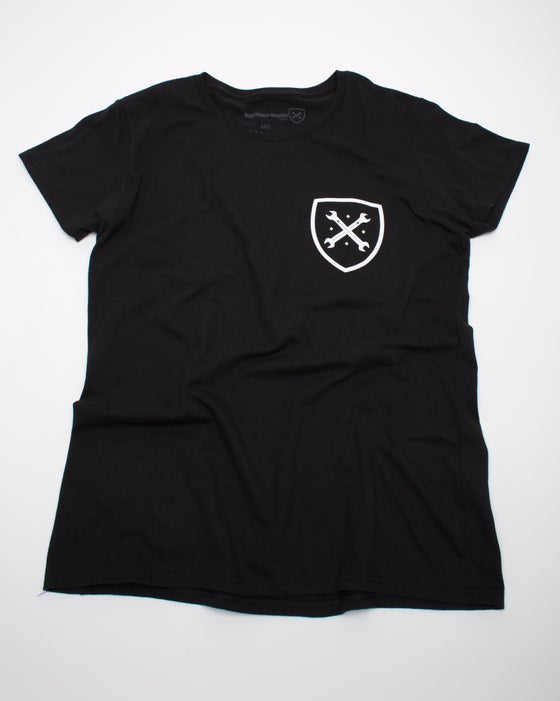 Image of Women's Black Shield Tee