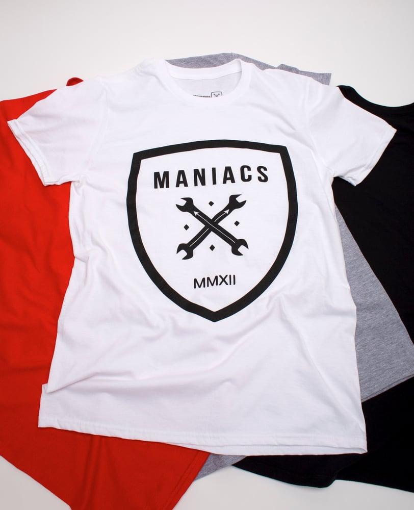 Image of White Maniacs Logo Tee