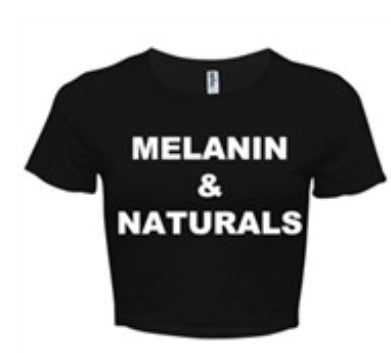 Image of MELANIN & NATURALS BLACK/WHITE CROP TOP