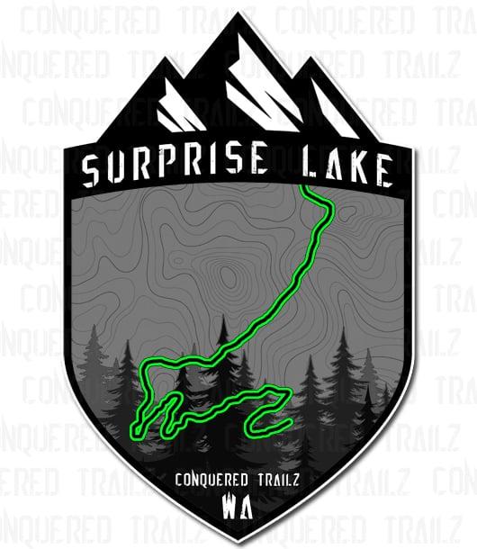 """Image of """"Surprise Lake"""" Trail Badge"""