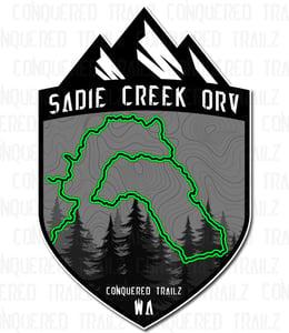 "Image of ""Sadie Creek"" Trail Badge"