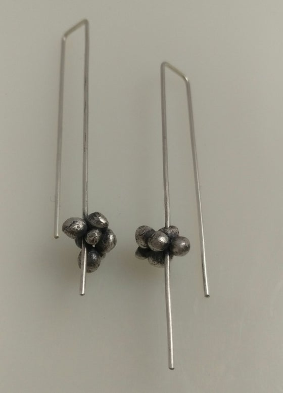 Image of Silver Bubble Earrings