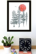 Image of Evergreen Trees Silkscreen Art Print