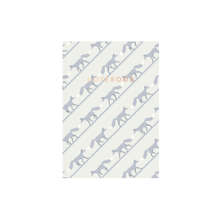 Image of Quinnstripe Notebook (Beauregarde Blue)