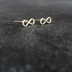 Image of Infinity studs silver