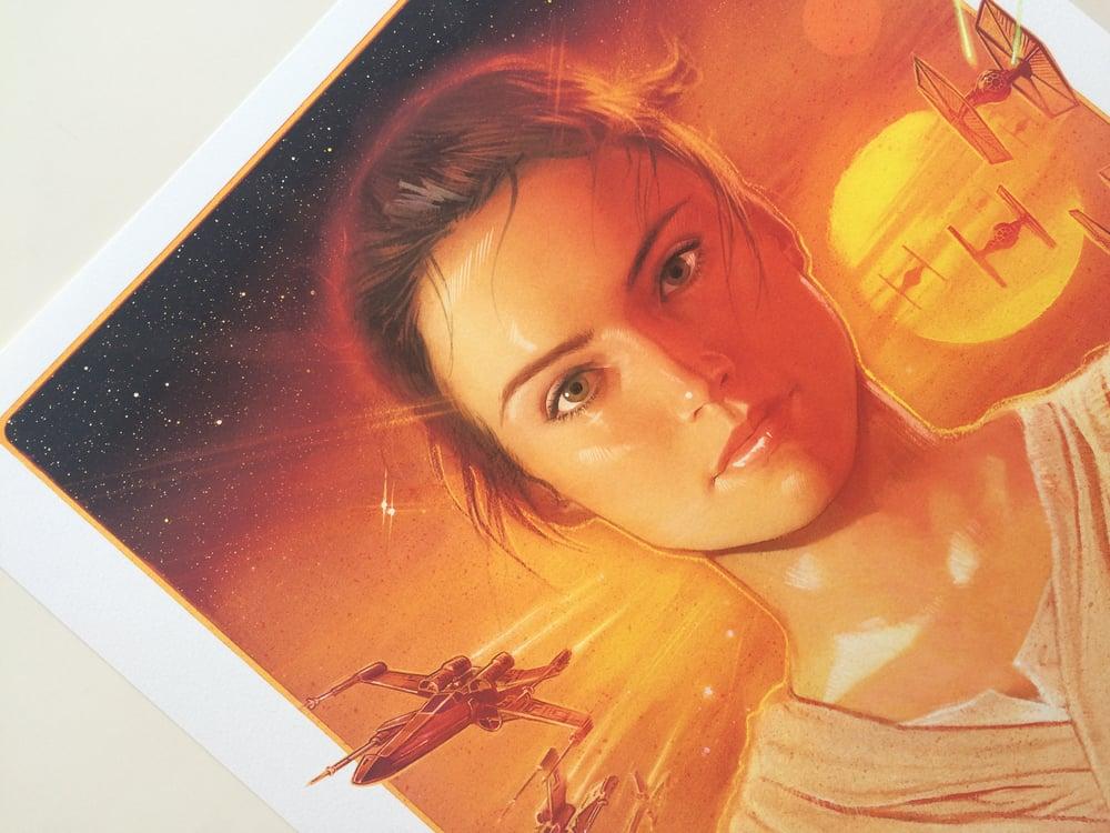 "Image of Star Wars The Force Awakens ""Rey"" AP prints"