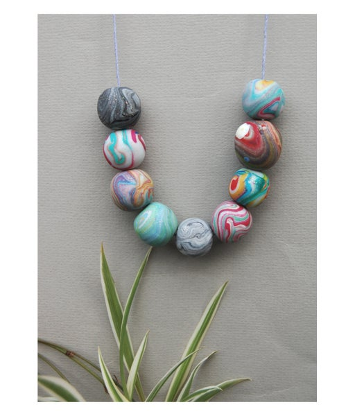 Image of Clay Bead Necklace