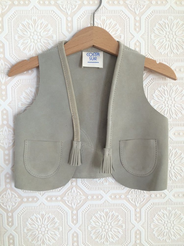 Image of COSTA SUR- Kids Playa Suede Vest