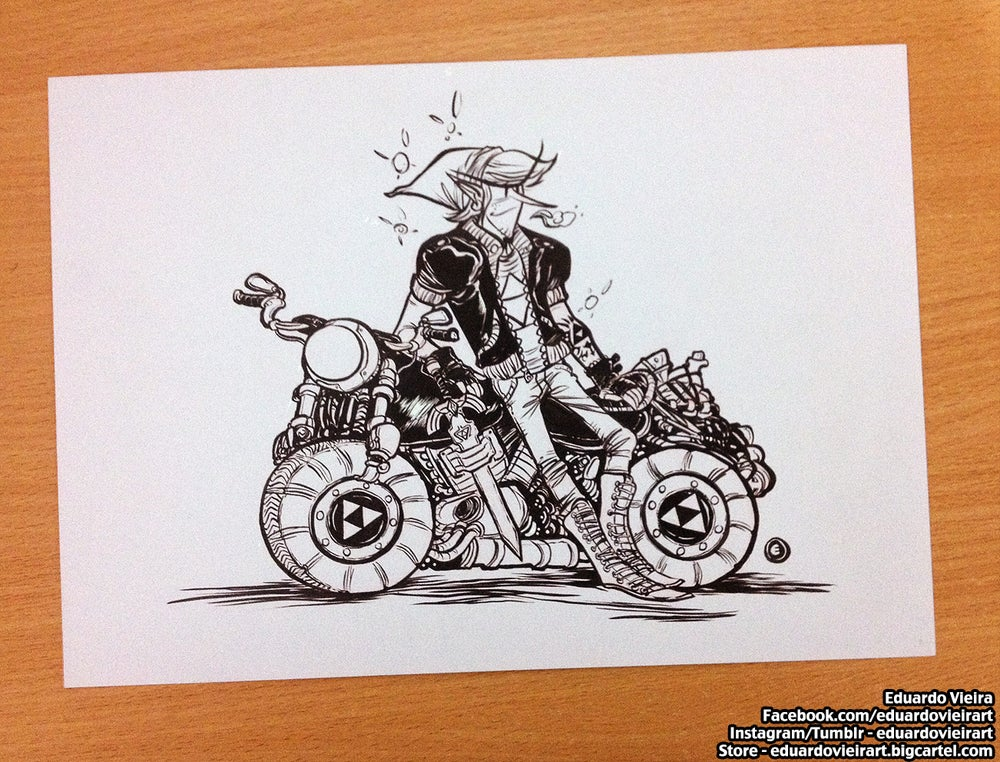 "Image of ORIGINAL ART - Biker Link (8.5"" x 11"")"