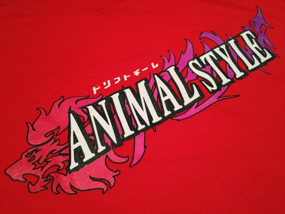 Image of Animal Style Classic logo Tee (red)