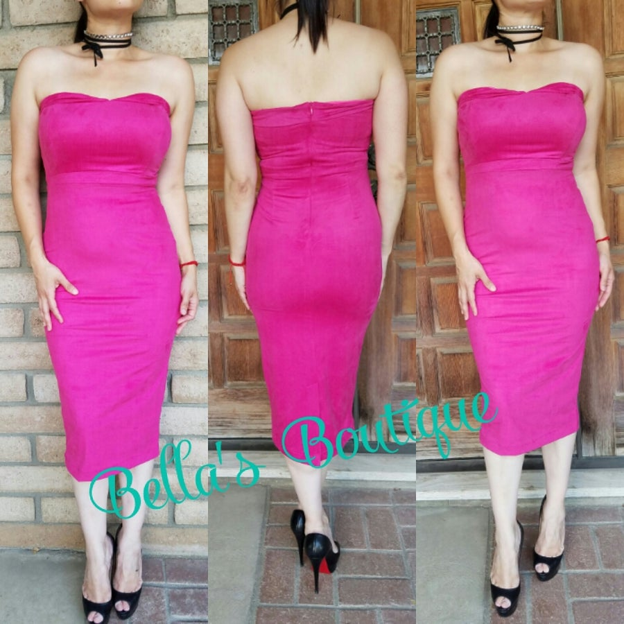 Image of khloe Suede Dress