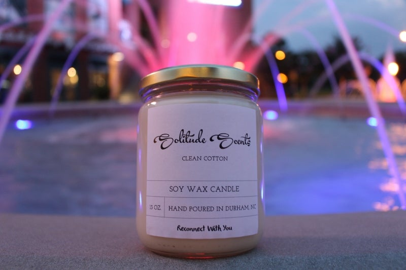 Image of 13 oz. Clean Cotton Soy Wax Candle