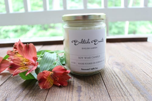 Image of 13 oz. English Garden Soy Wax Candle