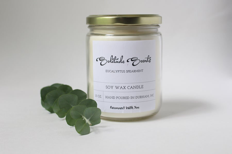 Image of 13 oz. Eucalyptus Spearmint Soy Wax Candle