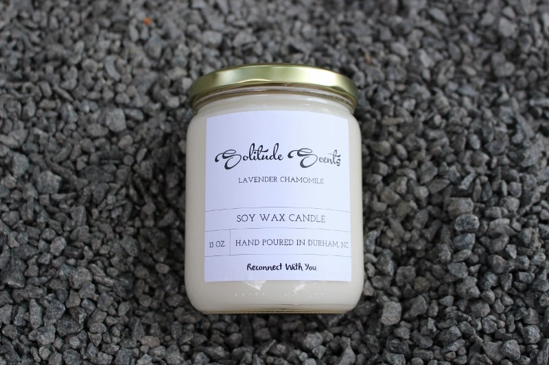 Image of 13 oz. Lavender Chamomile Soy Wax Candle