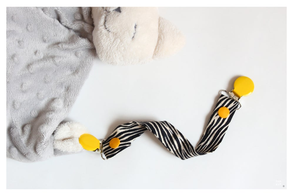 Image of Attache tétine ou doudou Sunny Zebra
